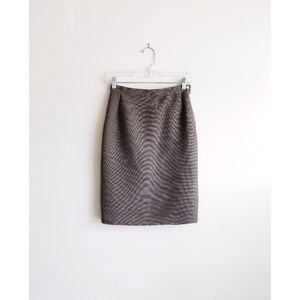 Genny Brown Taupe Textured Pencil Skirt fit 0